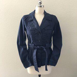 BANANA REPUBLIC Navy Blue Twill Utility Jacket
